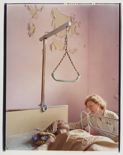 """Hospital, 2009"" from the series Bridget and I, by Asia Kepka (courtesy of the artist and Griffin Museum of Photography, MA)"