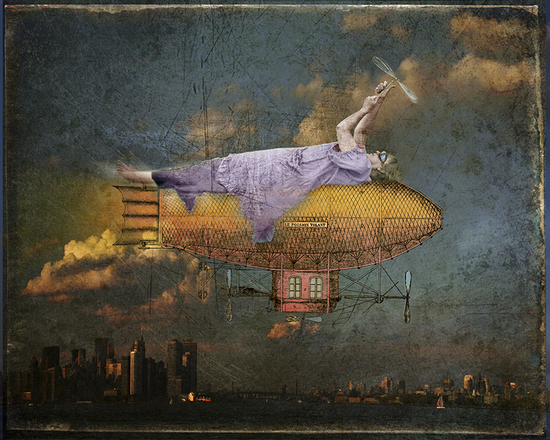 """""""Le Poisson Volant, 2013"""" archival pigment print by Fran Forman (courtesy of the artist and Pucker Gallery, Boston)"""