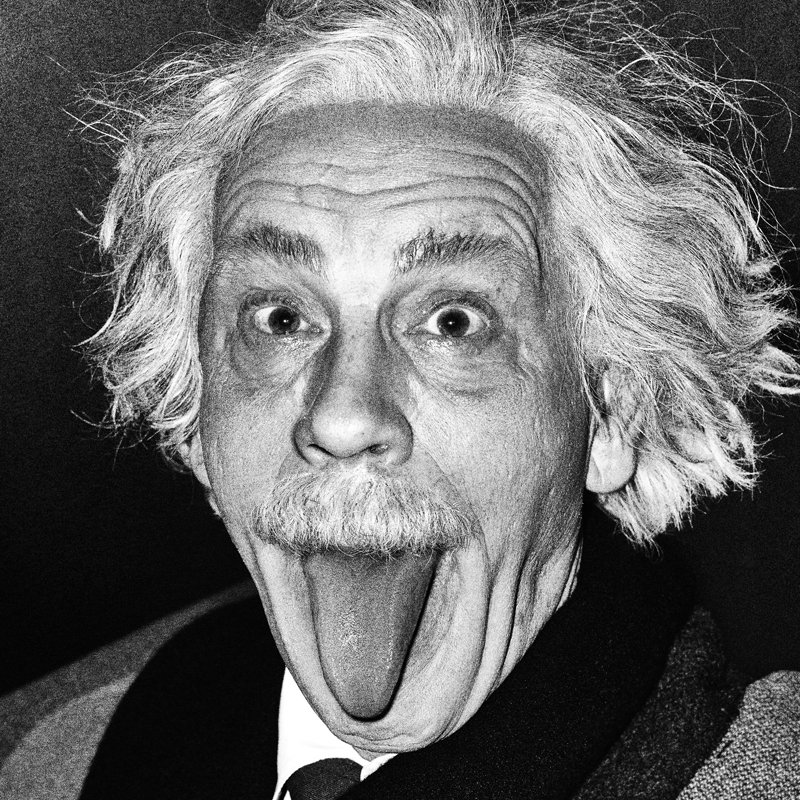 """Arthur Sasse's Albert Einstein Sticking Out His Tongue, 1951 (2014)"" by Sandro Miller (courtesy of the artist and Catherine Edelman Gallery, Chicago)"