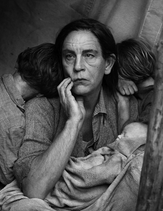 """Dorothea Lange's Migrant Mother, Nipomo, California, 1936 (2014)"" by Sandro Miller (courtesy of the artist and Catherine Edelman Gallery, Chicago)"