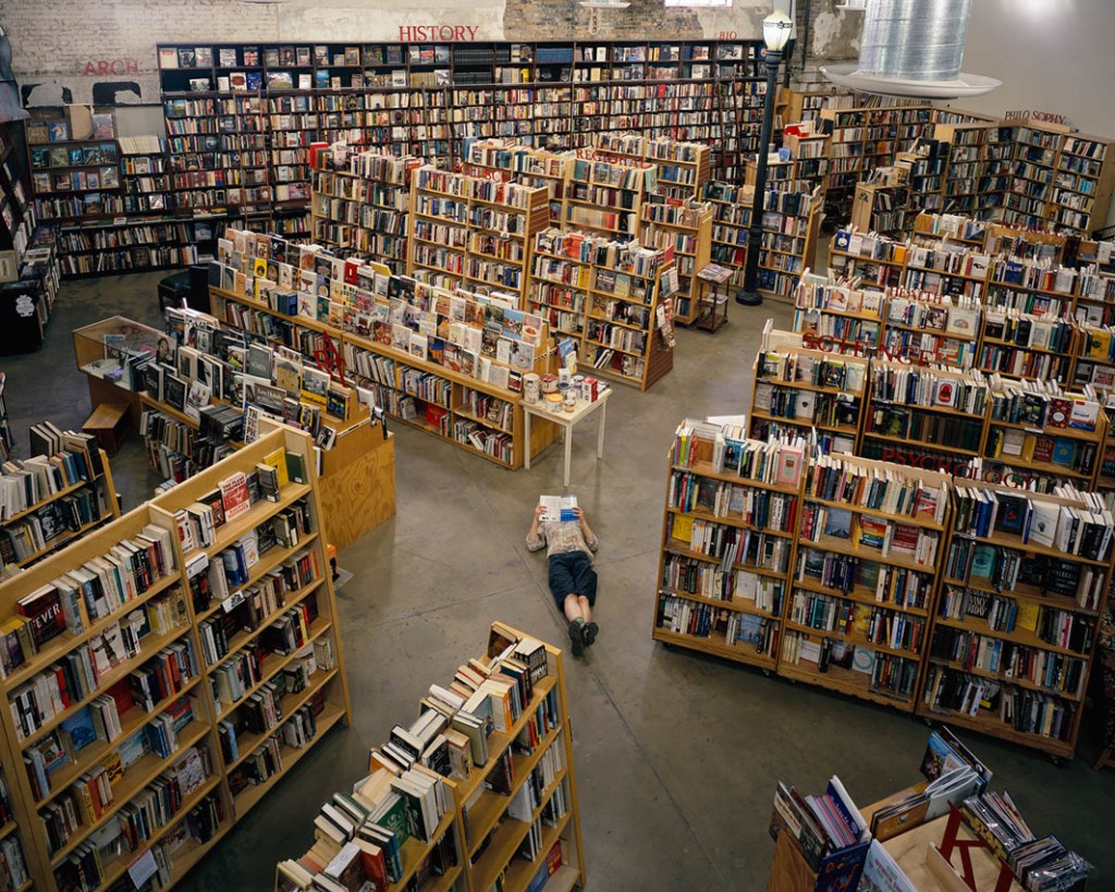"Weller Book Works, Salt Lake City, Utah, from the series ""The Last Bookstores: America's Resurgent Independents"" by Bryan David Griffith (courtesy of the artist and Griffin Museum of Photography)"