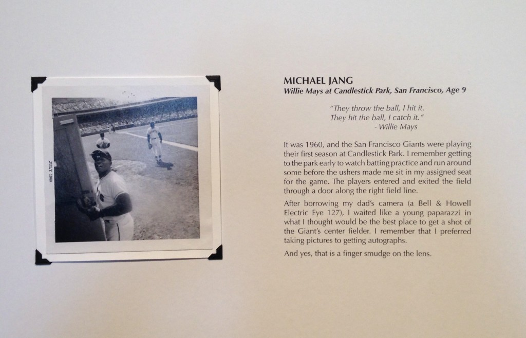 """""""Willie Mays at Candlestick Park, San Francisco, 1960"""" by Michael Jang (courtesy of the artist and PRC, Boston)"""