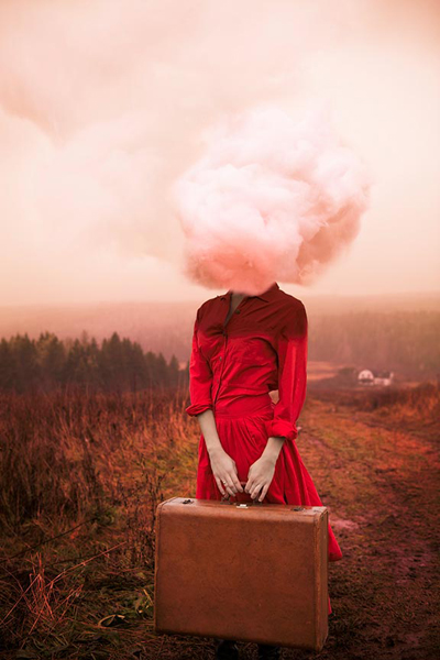 """""""Head in the Clouds, 2012"""" archival pigment print by Alicia Savage (courtesy of the artist and Panopticon Gallery, Boston)"""