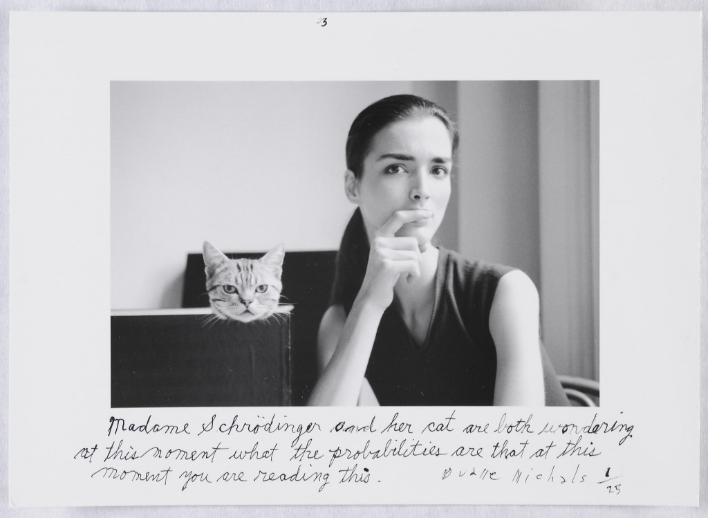 """Frame #3 of 3 from the series """"Madame Schroedinger's Cat, 1998"""" by Duane Michals (courtesy of the artist and Carnegie Museum of Art, Pittsburgh)"""