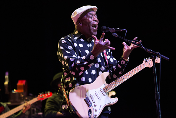 """Buddy Guy, Lynn Memorial Auditorium, 2014"" by Leslii Stevens (courtesy of the artist and Panopticon Gallery, Boston)"
