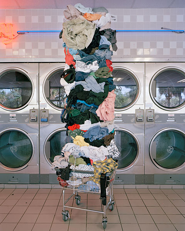 """Laundry Totem, 2011"" from the series Material World by David Welch (courtesy of the artist and Griffin Museum of Photography)"