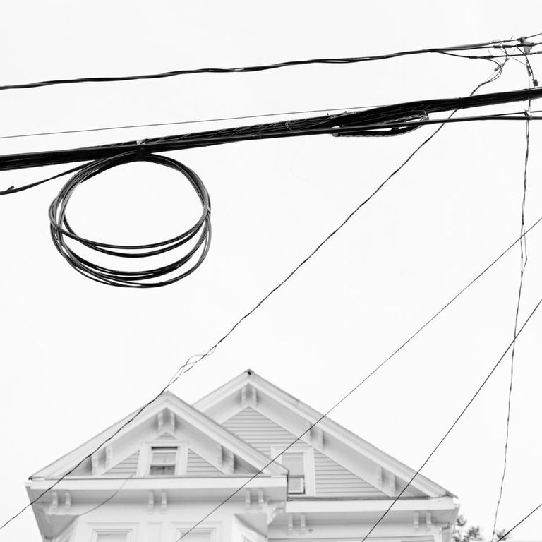 """""""House and Wires, 2013"""" by Elizabeth Ellenwood (courtesy of the artist and Panopticon Gallery, Boston)"""