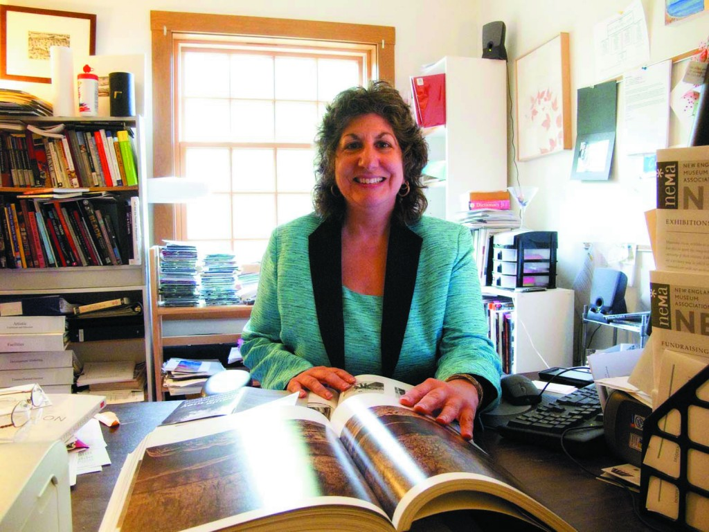 Paula Tognarelli, Executive Director and Curator, in her office at the Griffin Museum of Photography in Winchester, Massachusetts (photo by John Lawler)