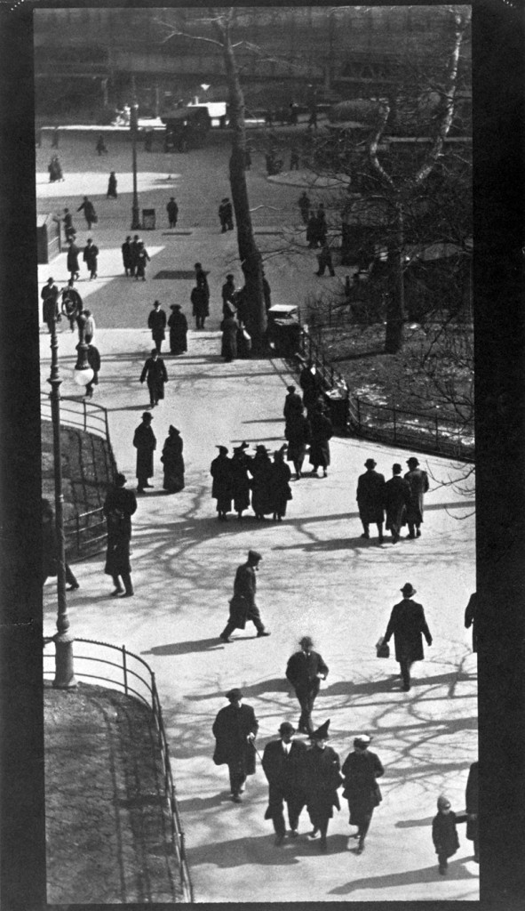 """""""City Hall Park, New York, 1915"""" photogravure by Paul Strand, from """"The Formative Years, 1914-1917"""" published in 1973 (courtesy of the Addison Gallery, Andover, MA)."""