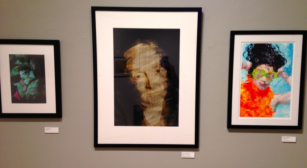 Installation view of portraits by (L toR): Russ Rowland, Marky Kauffmann and Dianne Yudelson in the 21st Juried Show at the Griffin Museum. (courtesy of the artists)