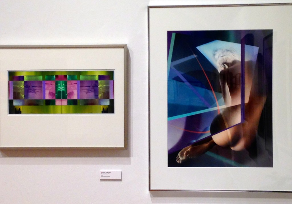 Installation view of work by Kalman Zabarsky (left) and Ralph Mercer (right) display mastery in abstraction (courtesy of the artists).