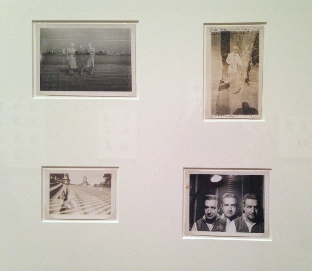 """Installation view of """"Double Exposures"""" from """"Unfinished Stories: Snapshots from the Peter J. Cohen Collection"""" at MFA, Boston (photo and apologies from Elin Spring)"""
