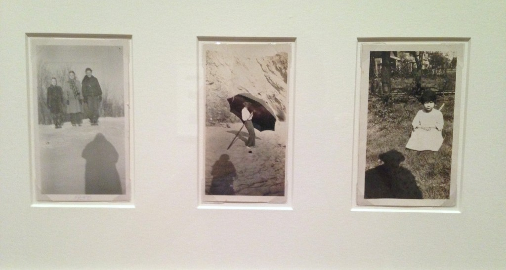 """Installation view of """"Photographer's Shadow"""" from """"Unfinished Stories: Snapshots from the Peter J. Cohen Collection"""" at MFA, Boston (photo and apologies from Elin Spring)"""