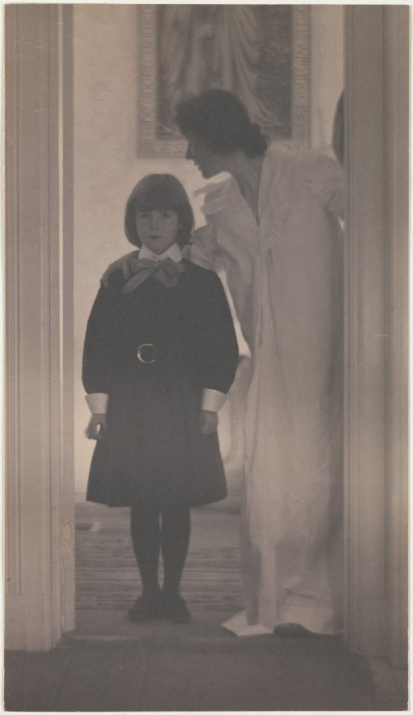 """""""Blessed Art Thou Among Women, 1899"""" by Gertrude Käsebier (American, 1852-1934), Platinum print, 9 1/16 x 5 3/16 in., The Metropolitan Museum of Art, Alfred Stieglitz Collection, 1933, 33.43.132."""