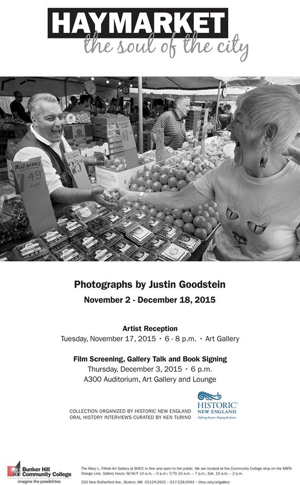 """Justin Goodstein's """"Haymarket"""" is on view at Bunker Hill Community College."""