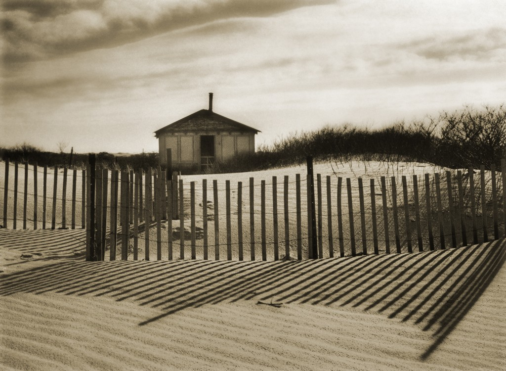 """""""Dune Shack I"""" by Christine Triebert (courtesy of the artist and 555 Gallery, Boston)."""