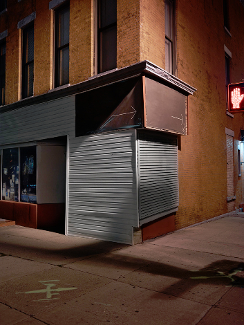 """Street Corner, Brooklyn, New York, 2014"" by Lynn Saville at Gallery Kayafas, Boston."