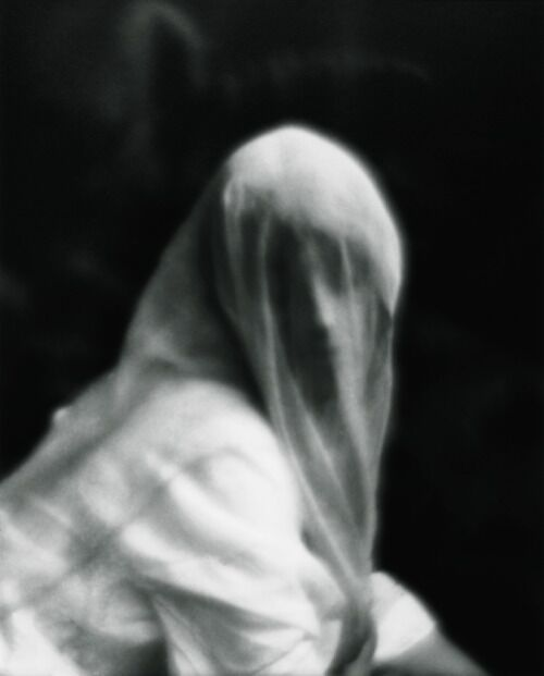 """Veiled Woman, 1910/1975"" by Imogen Cunningham (courtesy of the Imogen Cunningham Trust)."