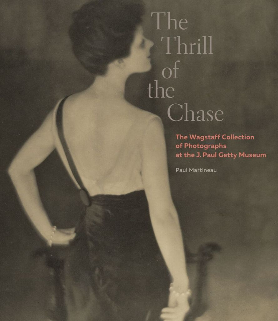 "Book cover of ""The Thrill of the Chase: The Wagstaff Collection of Photographs at the J. Paul Getty Museum"" by Paul Martineau. Photograph of ""Rita de Acosta Lydig, 1914"" gelatin silver print by Baron Adolf DeMeyer (courtesy of the J. Paul Getty Museum, Los Angeles)."