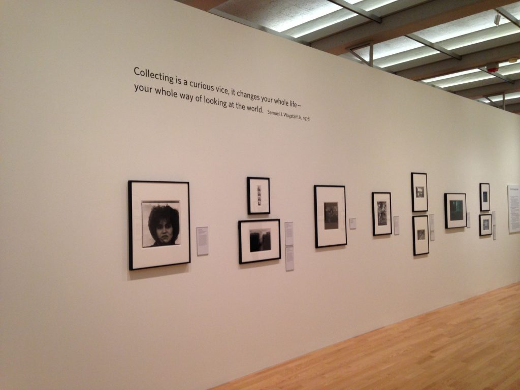 Installation image of The Thrill of the Chase: The Wagstaff Collection of Photographs at the J. Paul Getty Museum visiting the Wadsworth Atheneum Museum of Art in Hartford, Connecticut through December 11, 2016 (photo by Elin Spring).