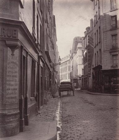 In 2014, Kennel curated the exhibition Charles Marville: Photographer of Paris. Charles Marville, Rue de la Bûcherie, du cul de sac Saint-Ambroise, 1866-68, albumen print. National Gallery of Art, Horace W. Goldsmith Foundation through Robert and Joyce Menschel.