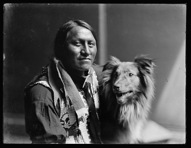 Gertrude Käsebier, Charging Thunder, c. 1900, digital file from glass negative, Library of Congress.