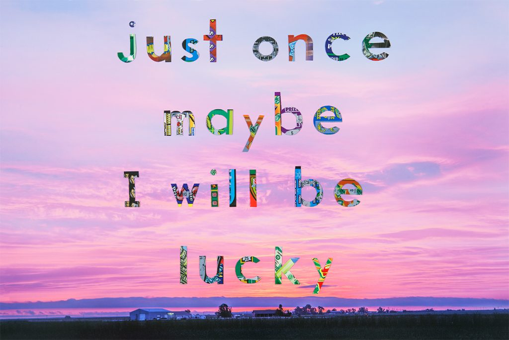 """""""Maybe I'll Be Lucky"""" from the series We Sold A Winner by Edie Bresler (courtesy of the artist and Gallery Kayafas, Boston)."""