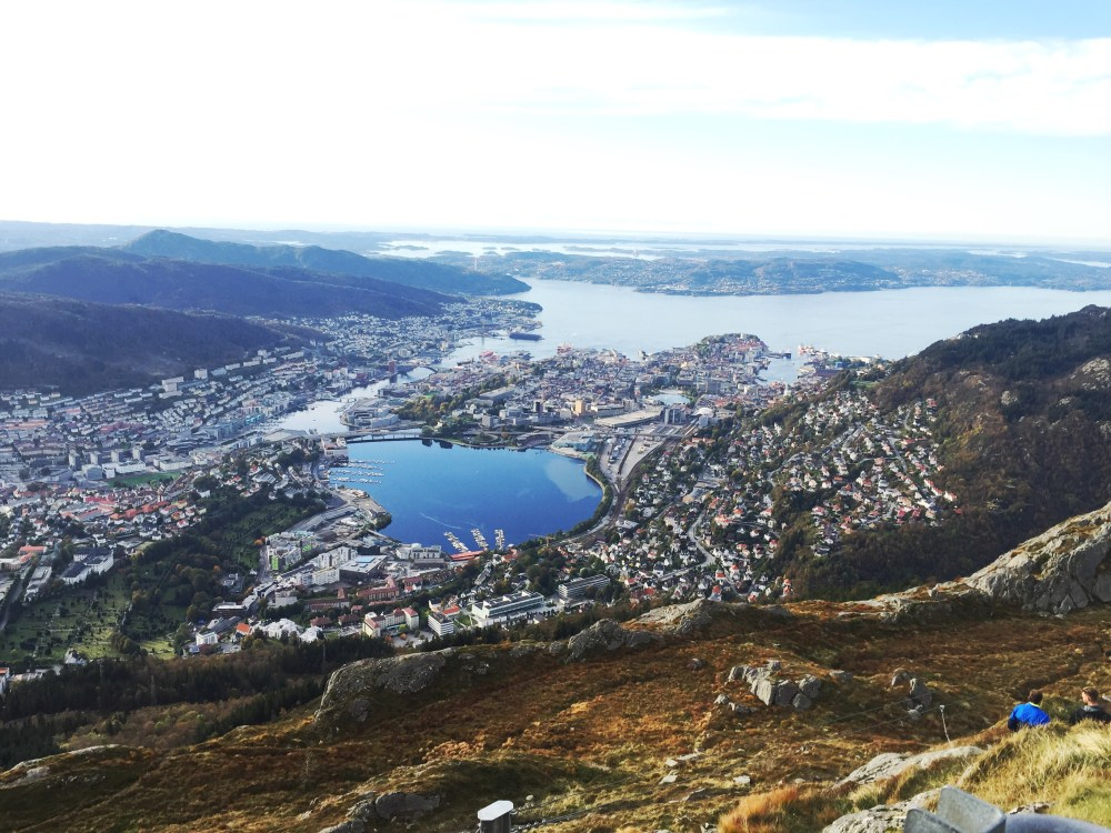Ulriken view of Bergen