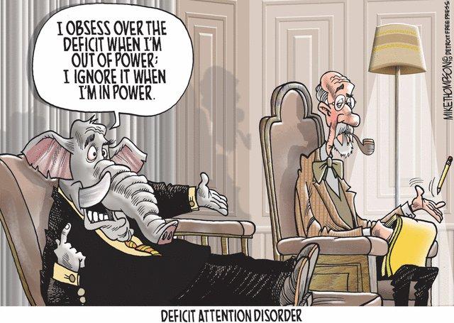 Image result for republican deficit hypocrisy