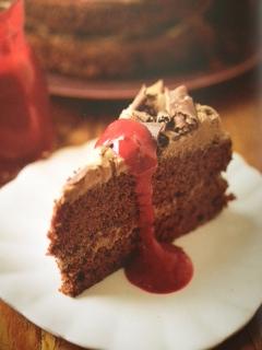 Devil food cake-celebrate