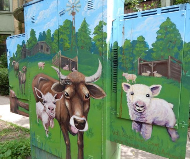 Farm painted utility box