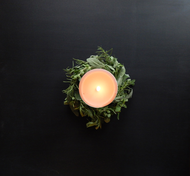 Wreath with candle