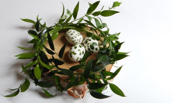 Three herb Easter eggs