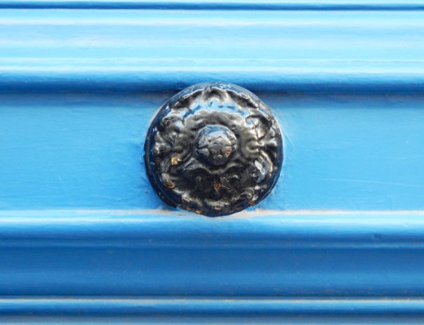 blue Paris door