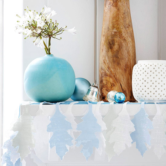 icy blue garland
