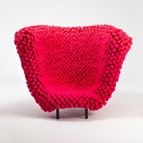cozy red chair