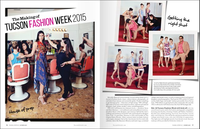 A fun photoshoot with a very professional crew for the upcoming Tucson Fashion Week 2015