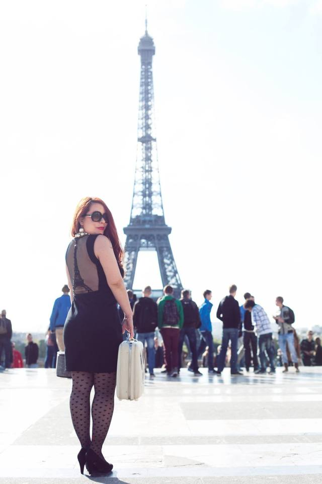 """The place she calls home, plus dressed """"a-la Eiffel Tower"""", of course!"""