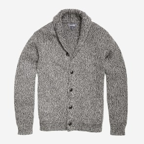 Charcoal Marl Cotton Yarn Cardigan