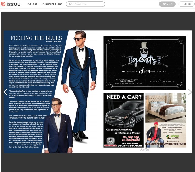 I SAID YES MAGAZINE - JULY 2017 - SUIT SUPPLY BLUE TUX & SUIT FOR WEDDINGS