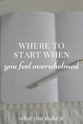Where to Start When You Feel Overwhelmed