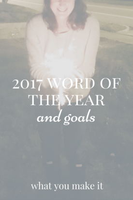 2017 Word of the Year and Goals