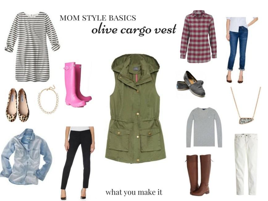 Mom Style Basics: Olive Cargo Vest