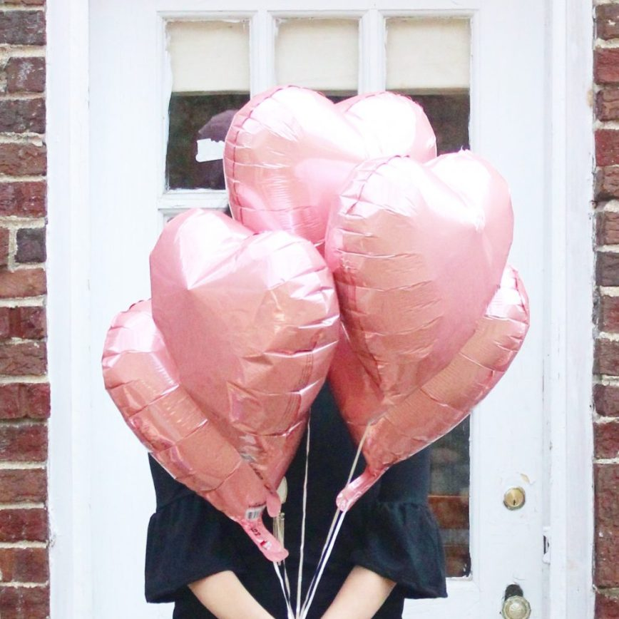 Scenes from a Valentine's Day - balloons - What You Make It blog