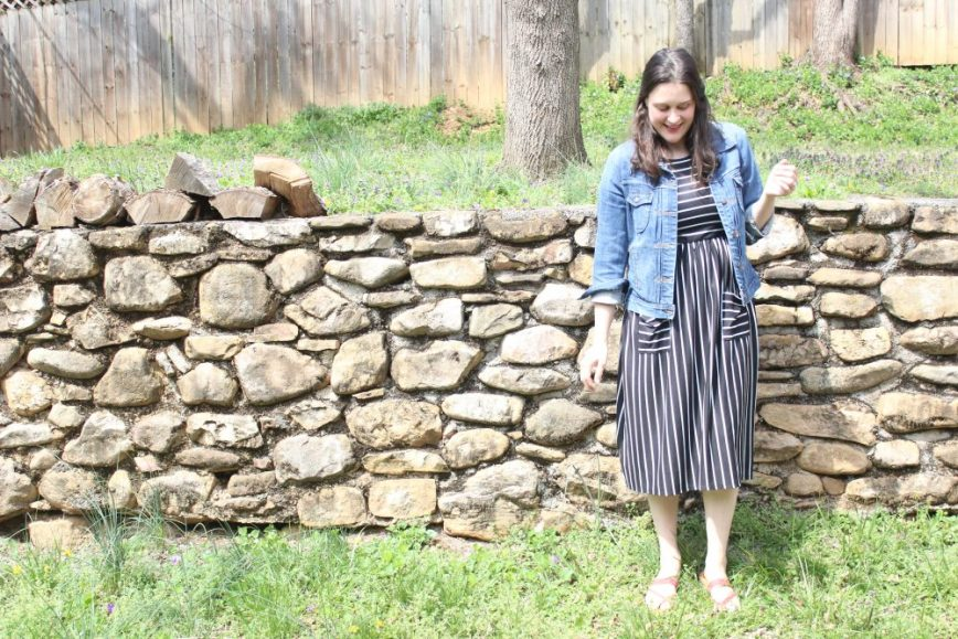 don't be intimidated by dresses - even moms can wear them comfortably - featuring a sponsored Cleo Madison dress and review - What You Make It blog