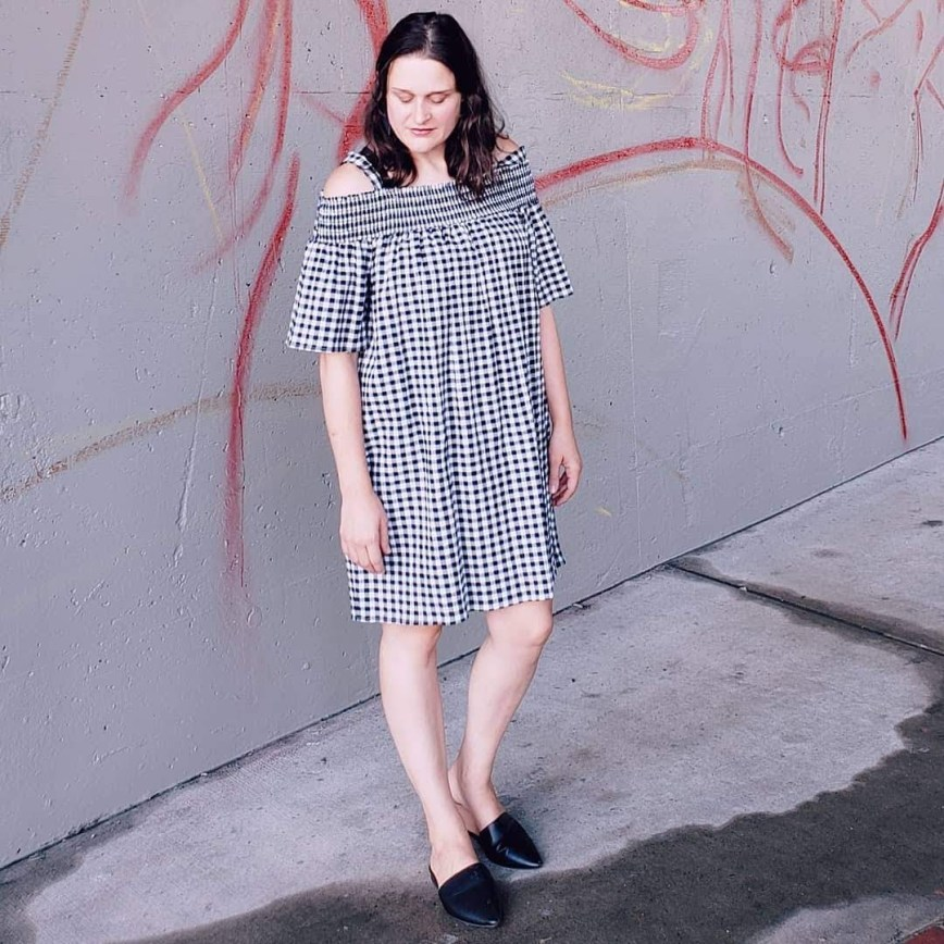 Instagram lifestyle photo - gingham dress - mom blog - What You Make It blog