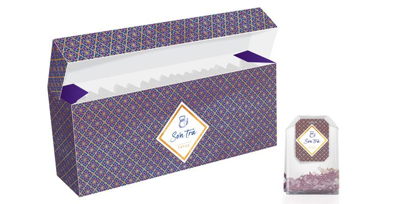 Design Son Tra packaging lotus pattern purple jpg 800x400