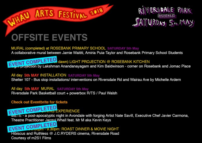Whau Arts Festival at Riversdale Park 2018 – WHAU THE PEOPLE