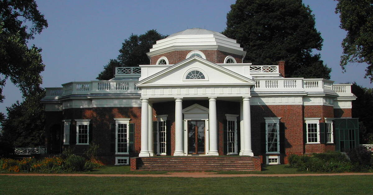 Monticello and the University of Virginia in