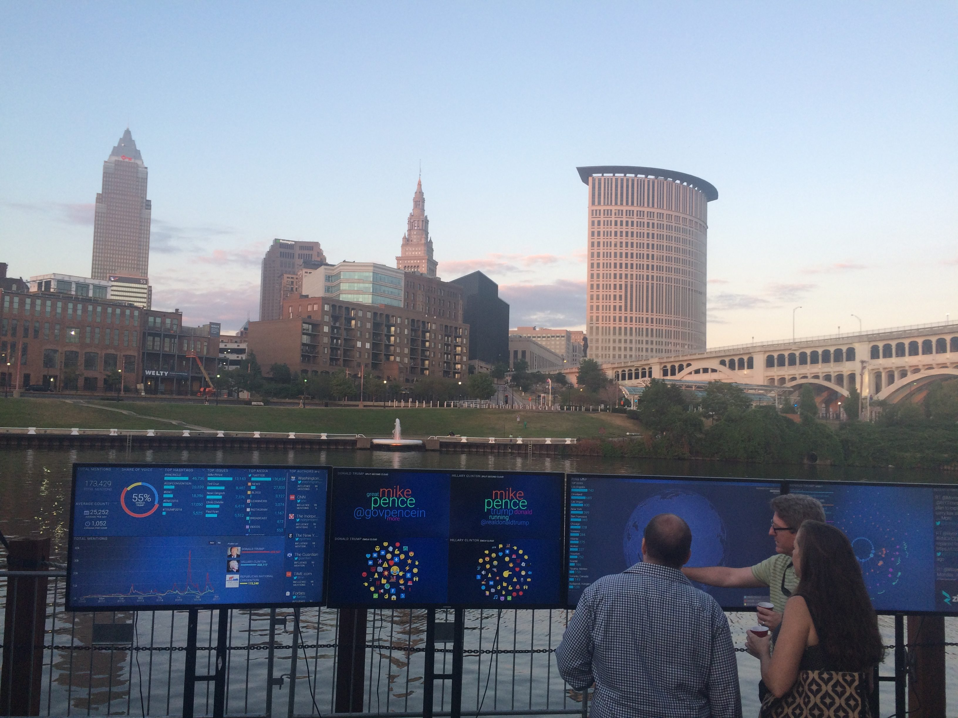 Zignal Labs Command Center at RNC Media Party in Cleveland